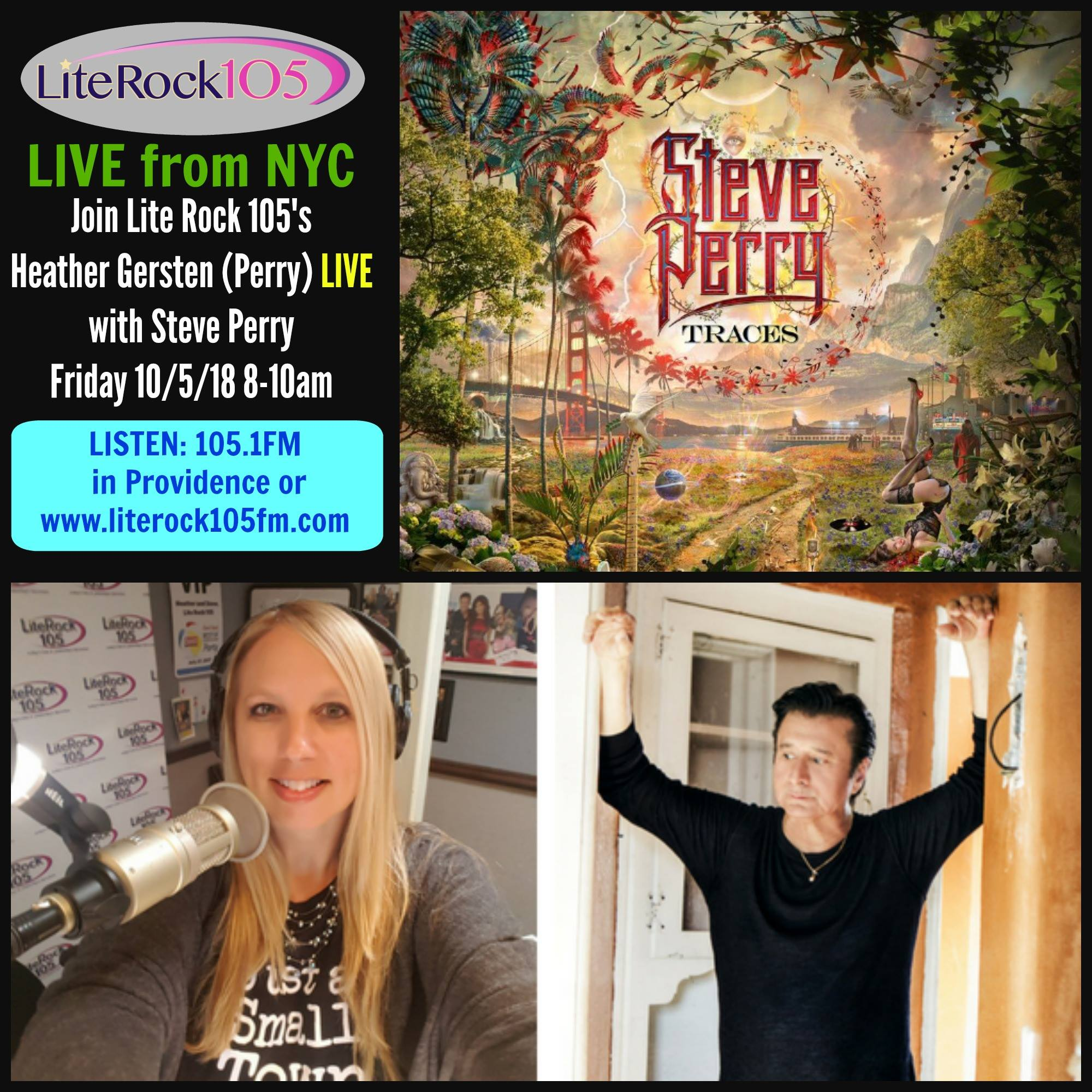 LIVE from NYC – Heather and Steve Perry!