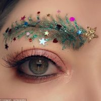 Don't Forget To Decorate Your Eyebrows For Christmas!