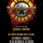 Gun N' Roses Announces Concert At War Memorial Stadium