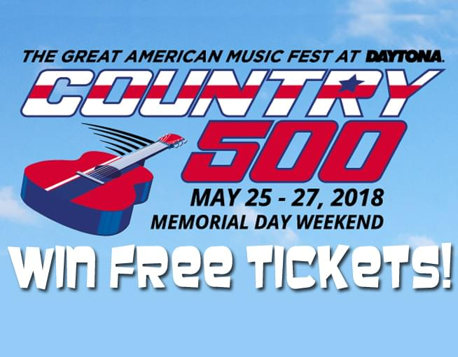 Win COUNTRY 500 Tickets!