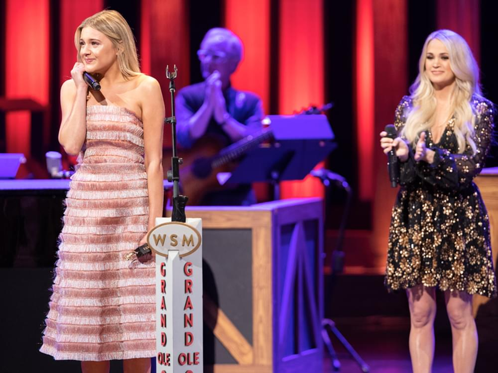 Watch Carrie Underwood Induct Kelsea Ballerini Into the Grand Ole Opry