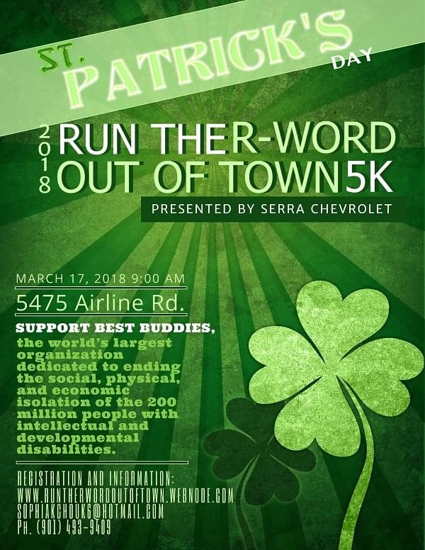Run The R-word Out Of Town – Sat, 3/17
