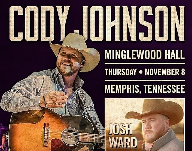 Cody Johnson – Minglewood Hall with Josh Ward