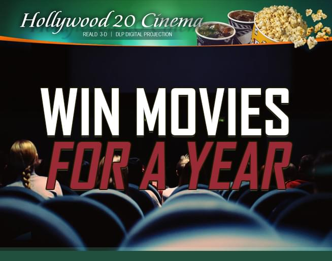 Win Movies for a Year – Hollywood 20 Cinema