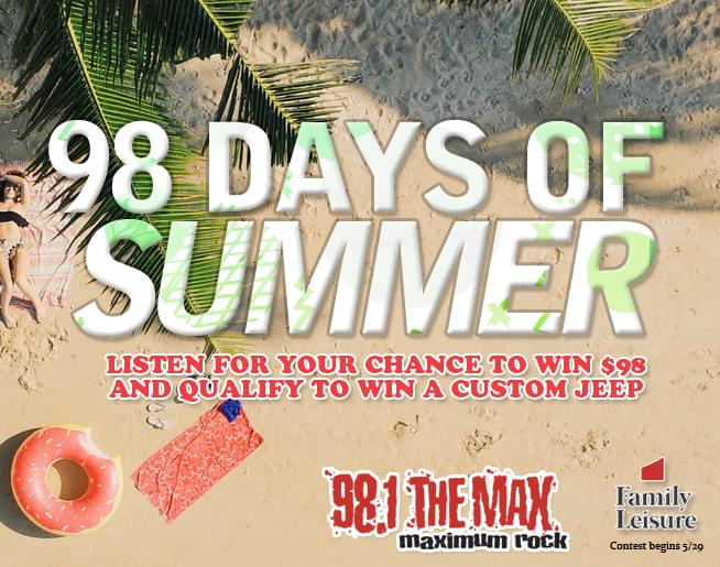 98 Days Of Summer – Win $98 and Qualify For A Jeep