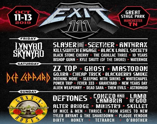 EXIT 111 – Great Stage Park in Manchester