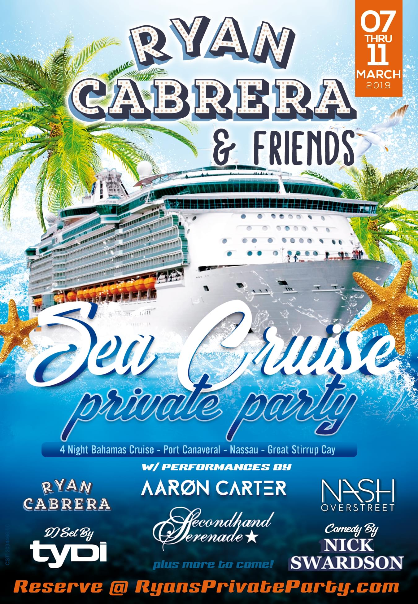 Ryan Cabrera and Friends Sea Cruise!