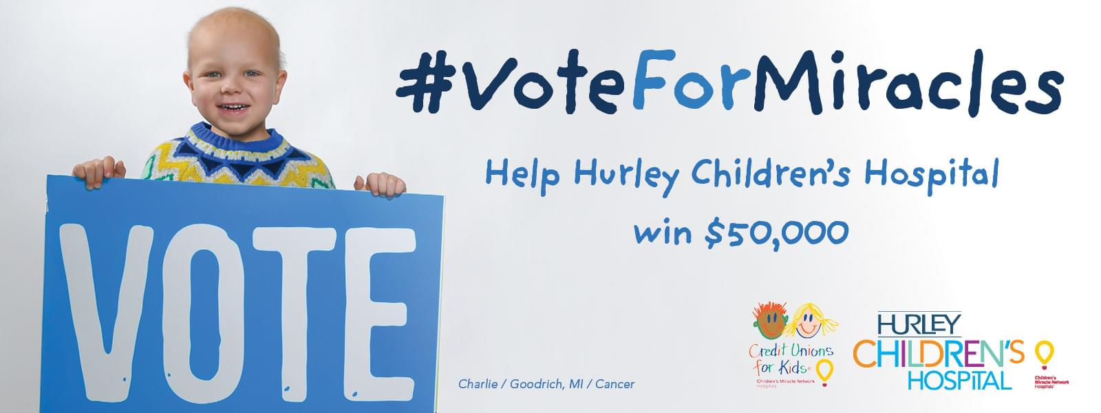 You can help bring $50,000 to Flint! #VoteForMiracles
