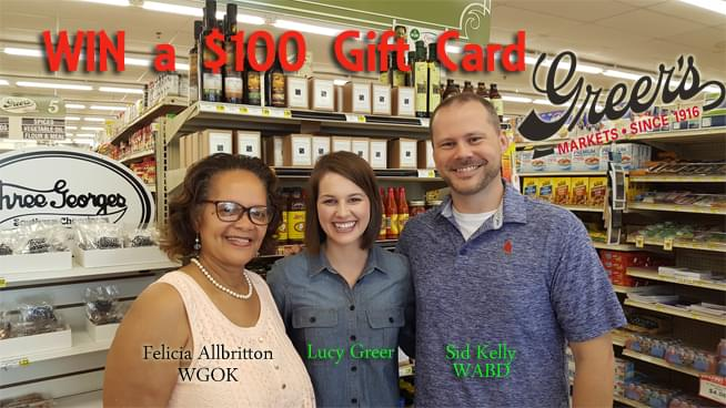 Win A $100 Gift Card To Greer's