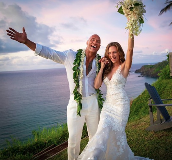 The Rock Married His Girlfriend in Hawaii Sunday