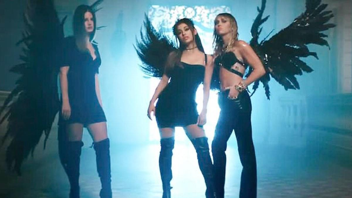 Did You See Ariana Grande, Miley Cyrus and Lana Del Rey's New Music Video? It's Fire!