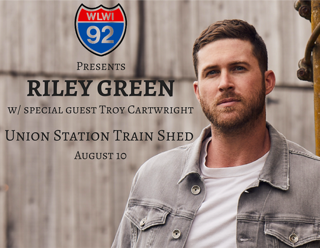 Win riley green backstage meet greet passes concert tickets i 92 wlwi proudly presents riley green in concert with special guest troy cartwright friday night at union station train shed in downtown montgomery m4hsunfo