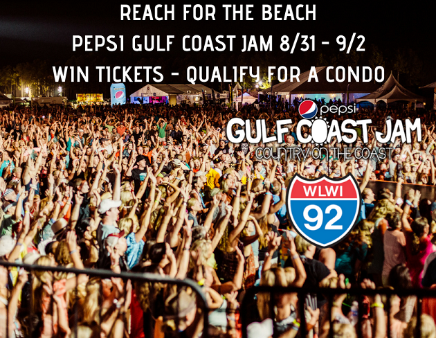 Reach for the Beach With Pepsi Gulf Coast Jam Tickets and a Condo