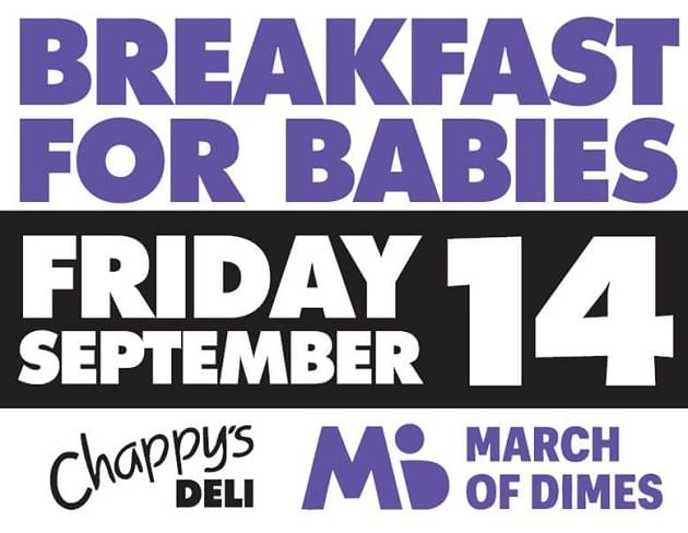 Annual March of Dimes Breakfast for Babies is Friday Morning