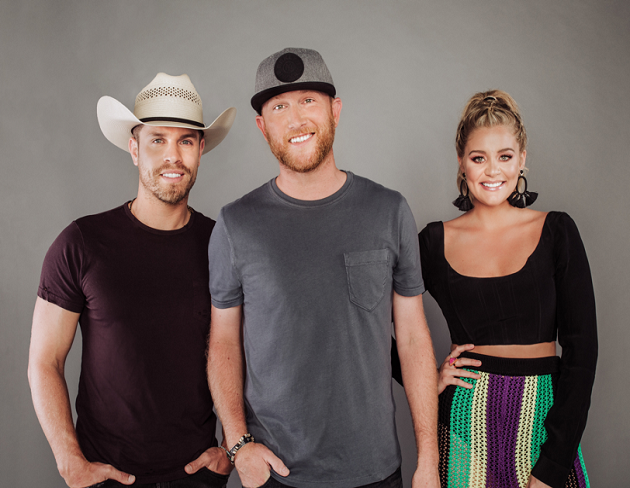 Cole Swindell, Dustin Lynch and Lauren Alaina at Tuscaloosa Amphitheater