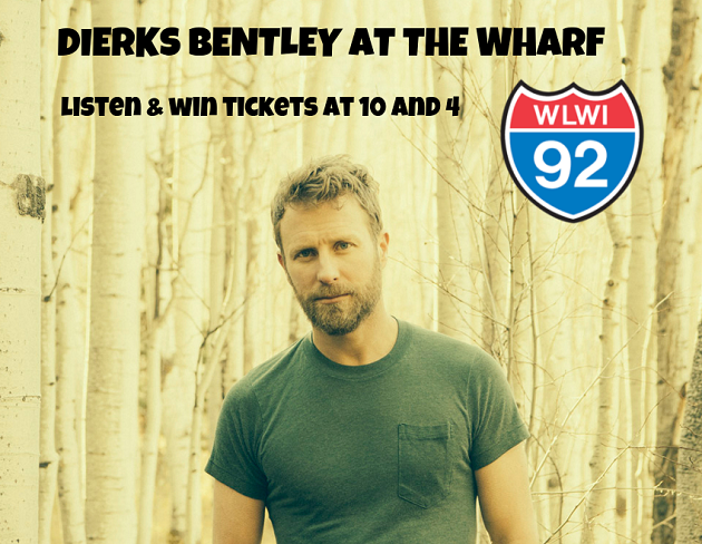Listen and Win Dierks Bentley Tickets for Concert at The Wharf Amphitheater