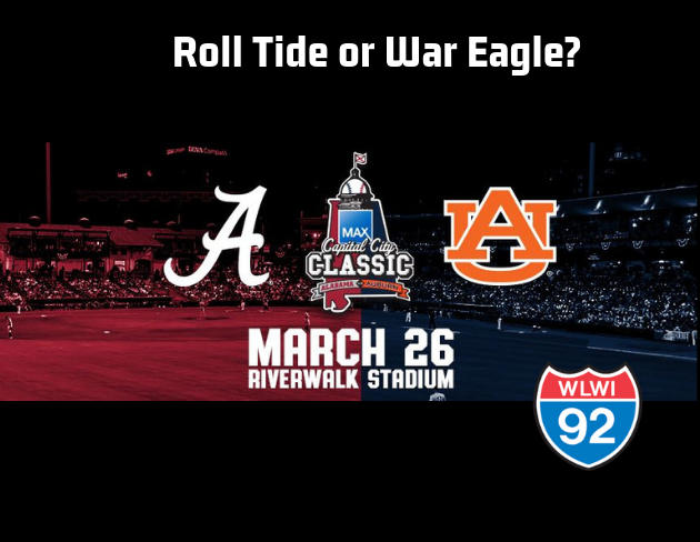 Capital City Classic Featuring Auburn and Alabama Baseball