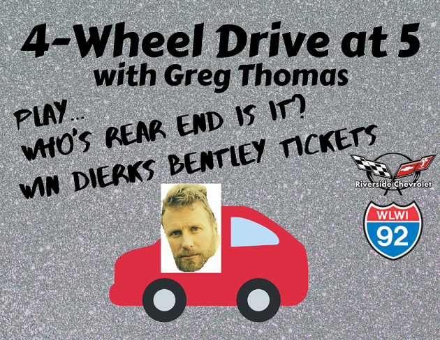 Get Your Dierks Bentley Tickets during the 4-Wheel Drive at 5 on I-92 WLWI