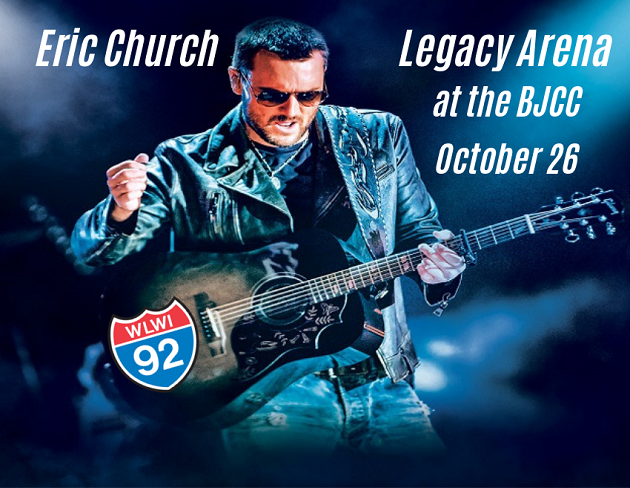 Red, White and Two Eric Church Tickets – Enter to Win