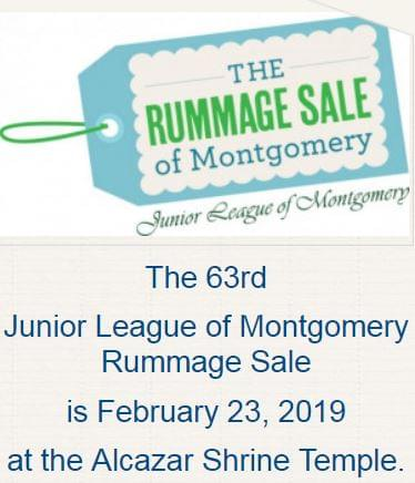 THE 63RD JUNIOR LEAGUE OF MONTGOMERY RUMMAGE SALE