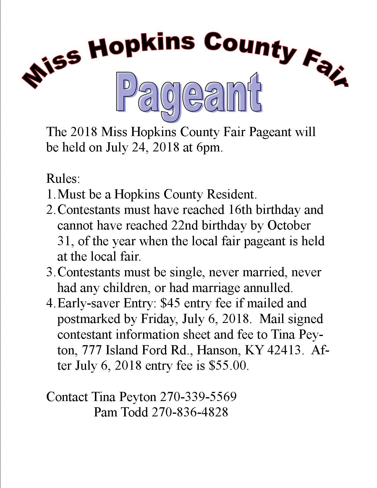 Miss Hopkins County Fair Pageant
