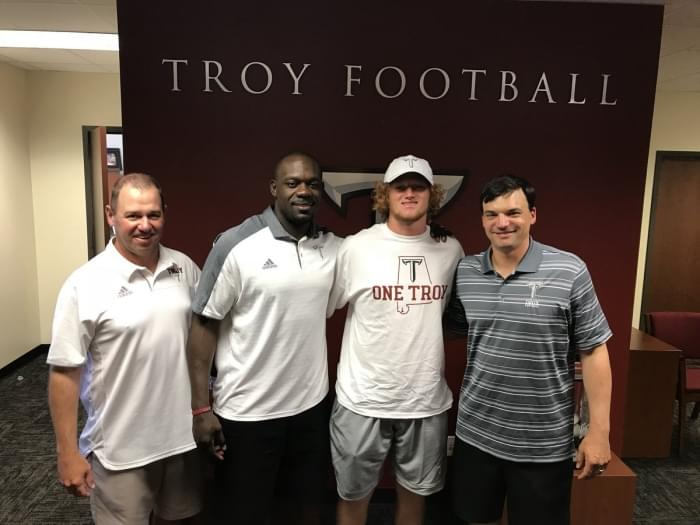 Baldwin's Gavin Screws excited and relieved following Troy commitment