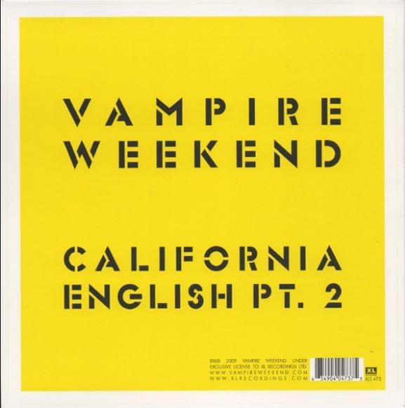 HEAR WHAT'S NEW: Vampire Weekend – California English Part 2