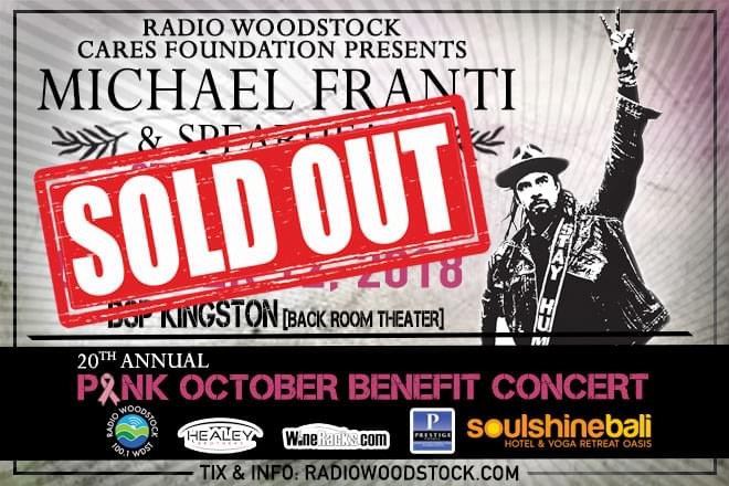 20th Annual Pink October Benefit Concert with Michael Franti & Spearhead