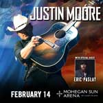 Justin Moore with Special Guest Eric Paslay at the  Mohegan Sun Arena at Casey Plaza