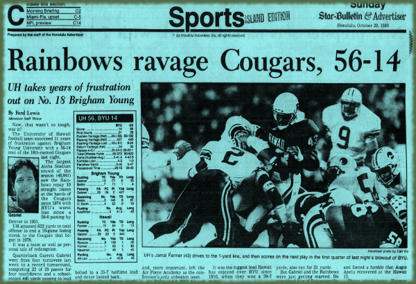 UH-BYU 1989: By the Numbers