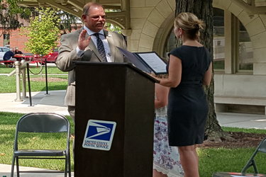 James Cleaver takes oath