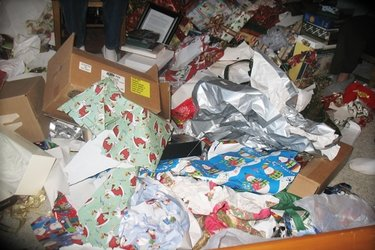 Christmas materials recycling