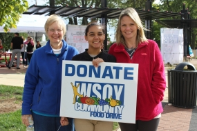 Hickory Point Bank Food Drive Kick Off (photos)