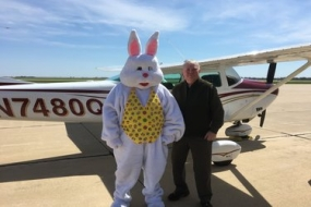 The Easter Bunny flies in to Decatur