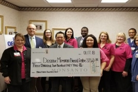 DMH Breast Center Receives Donation from Monsanto Employees