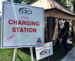 Free Charging Station at the Decatur Celebration