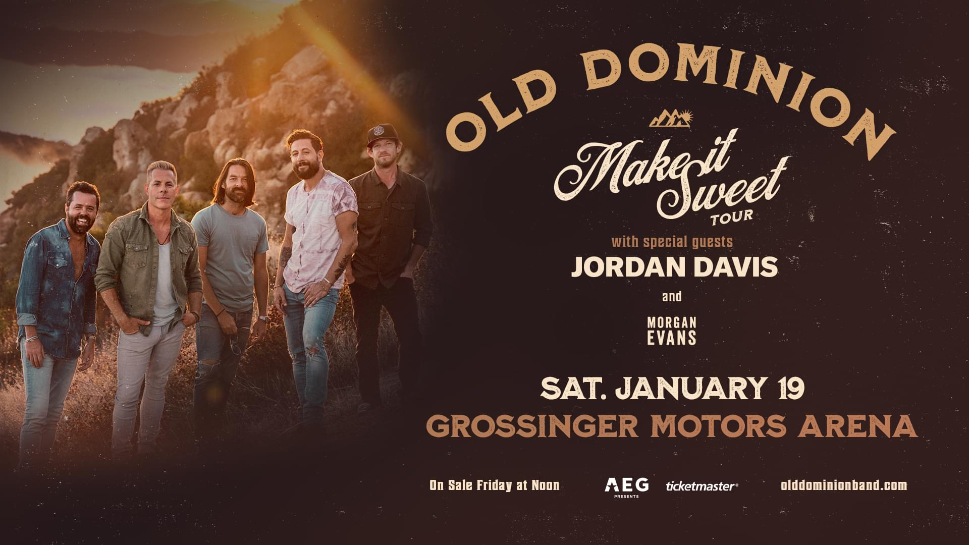 Old Dominion with Jordan Davis & Morgan Evans