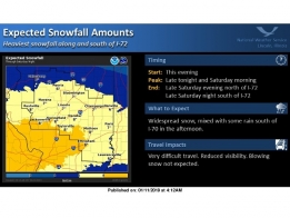 Winter Storm Warning Issued; Heavy Snow Expected