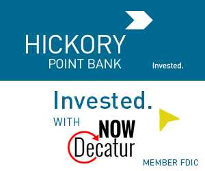 Invested with Hickory Point Bank and NowDecatur