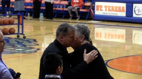 WATCH: As St. Teresa honors basketball coach Ipsen