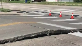 Hot Weather Brings Buckling Pavement