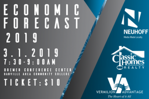 January 29, 2019 – Economic Forecast 2019 Rescheduled (Event moved to March 1, 2019)