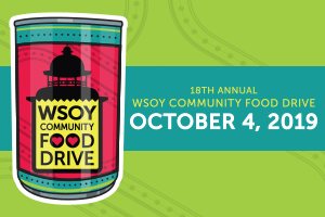October 4, 2019 – The 18th Annual WSOY Community Food Drive Exceeds Goal Collecting 1.6 Million Pounds of Food  in Decatur, Illinois