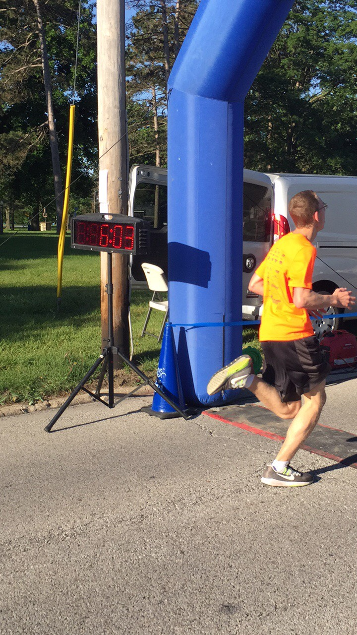 6:03.  BOB's personal best is a DNF.