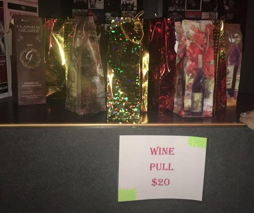 The Wine Pull.  Every bottle was purchased with a donation.