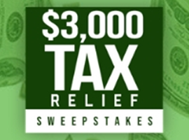 $3,000 Tax Relief Sweepstakes