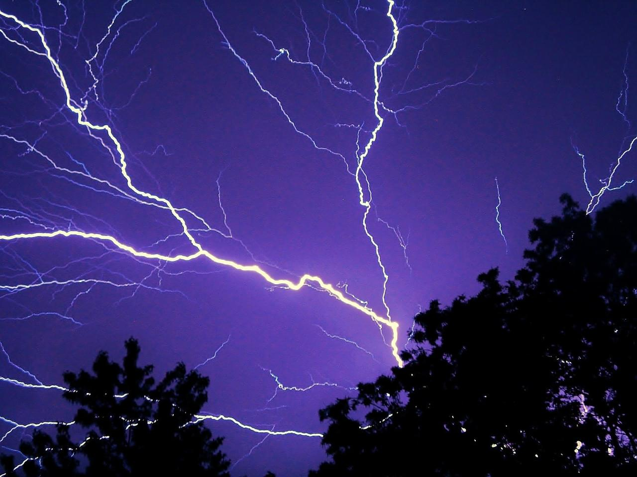 Lightning Suddenly Strikes During Woman's Video