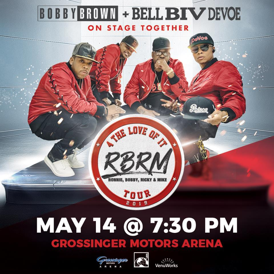 Bobby Brown and Bel Biv Devoe at Grossinger Motors Arena