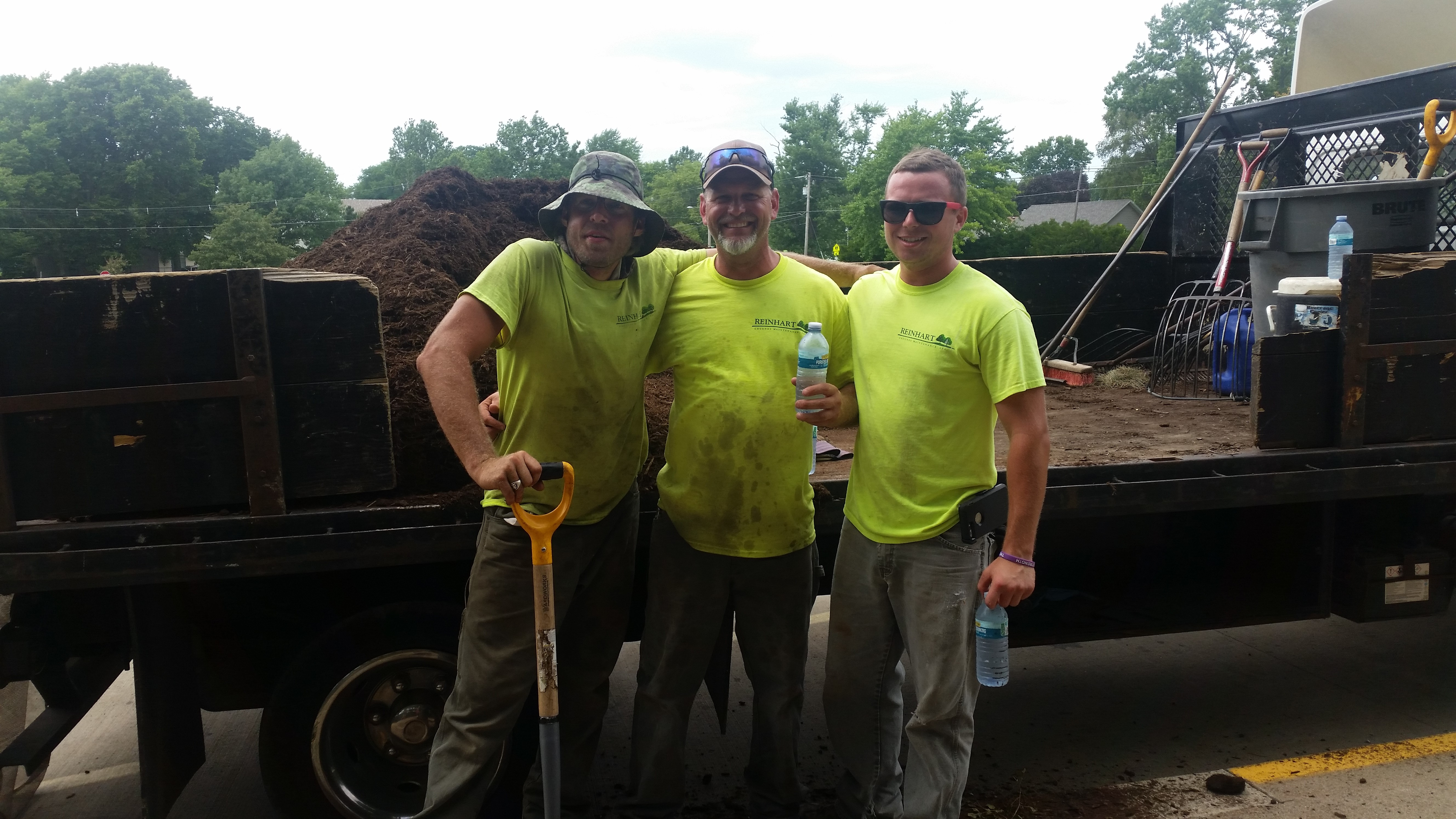 These guys were working at Bloomington middle school