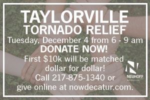 Join Neuhoff Media as we raise funds to help those affected by the Taylorville Tornados.